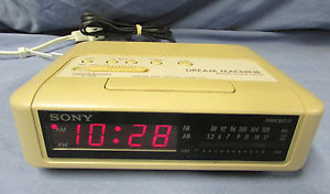 Sony Clock Radio Beige ebay