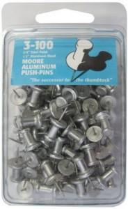 moore alum push pins 0072228061033