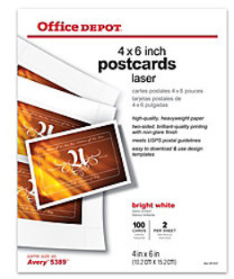 Office Depot Gloss White Post Cards Pucho Marketplace