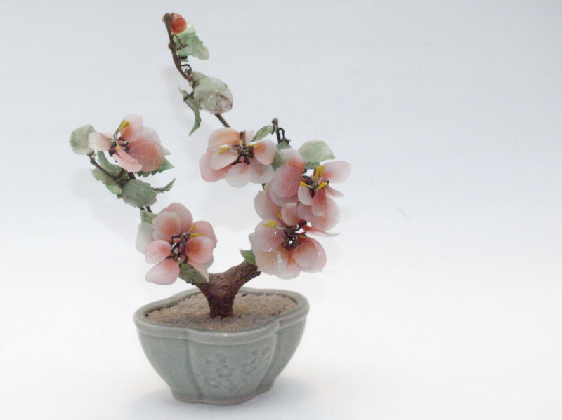 Bonsai Tree with Ceramic Base Vintage