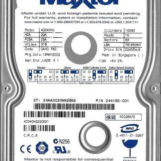 Maxtor D540X-4D