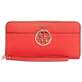 guess Kamryn Zip-Around Wallet red